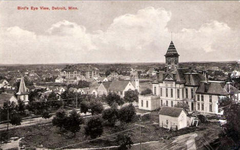 Birds eye view, Detroit Lakes Minnesota, 1907