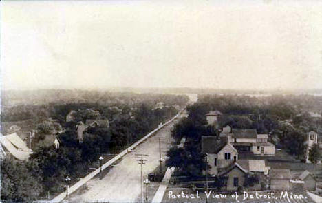 Partial View of Detroit Lakes Minnesota, 1910's