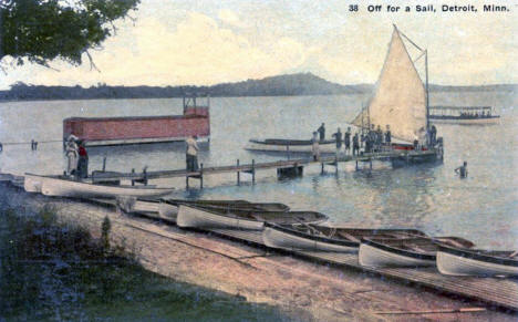 Lake Scene, Detroit Lakes Minnesota, 1913