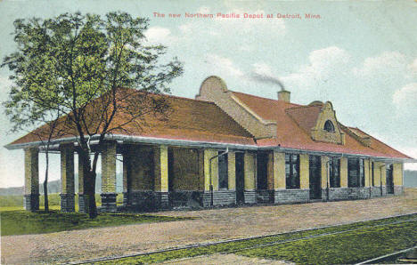Northern Pacific Depot, Detroit Lakes Minnesota, 1909