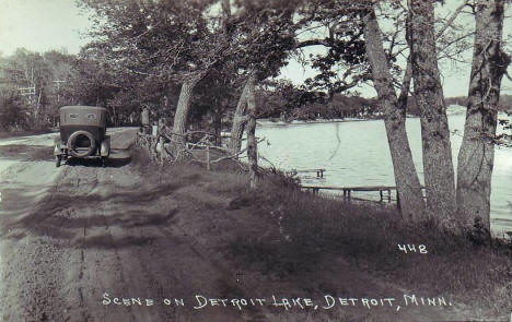 Scene on Detroit Lake, 1920's