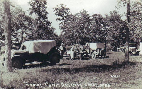 Tourist Camp, Detroit Lakes Minnesota, 1929