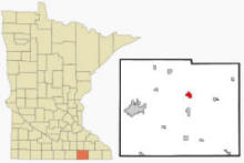 Location of Dexter, Minnesota
