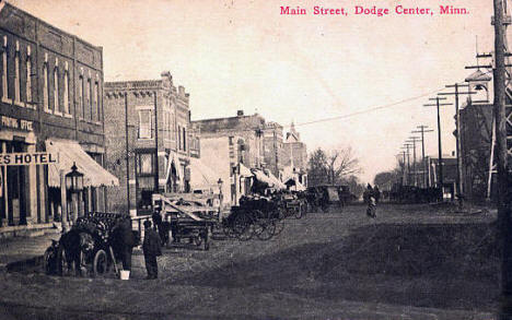 Main Street, Dodge Center Minnesota, 1912
