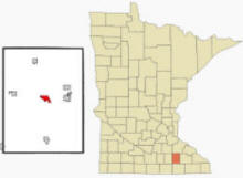 Location of Dodge Center, Minnesota