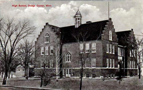 High School, Dodge Center Minnesota, 1919