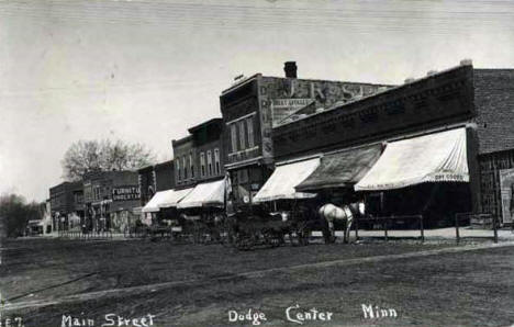 Main Street, Dodge Center Minnesota, 1910's