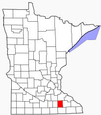 Location of Dodge County Minnesota