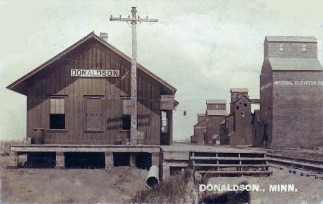 Great Northern Depot, Donaldson Minnesota, 1911