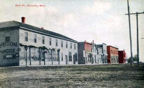 Main Street, Donnelly Minnesota, 1910's