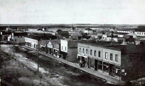 Birds Eye View of Donnelly Minnesota, 1915