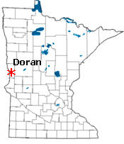 Location of Doran Minnesota