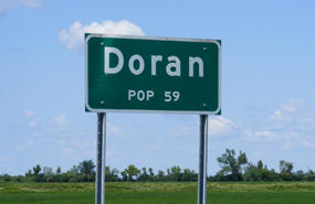 Doran Minnesota Population Sign
