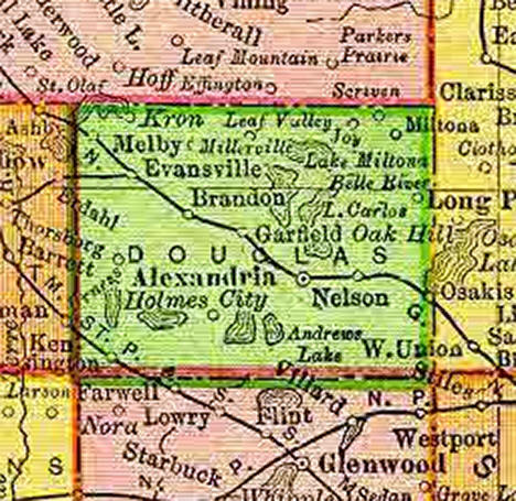 1895 Map of Douglas County Minnesota