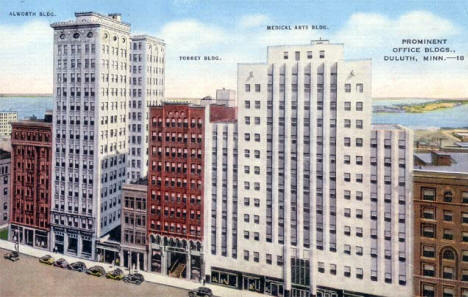 Prominent Office Buildings, Duluth Minnesota, 1930's?