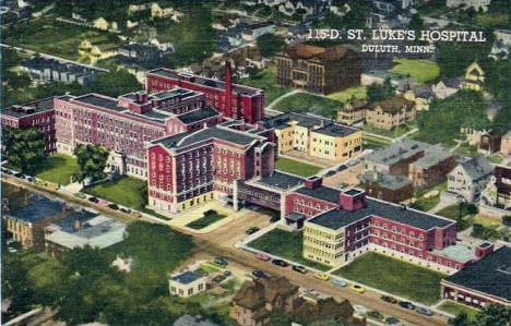 St. Luke's  Hospital, Duluth Minnesota, 1953