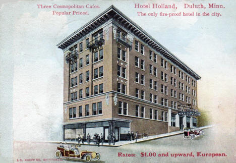 Hotel Holland, Duluth Minnesota, 1911