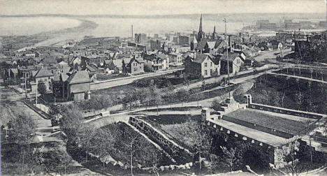 Birds eye view, Duluth Minnesota, 1910