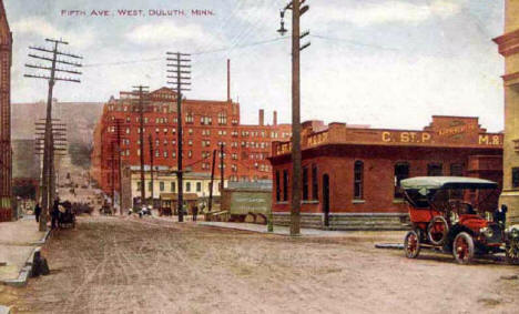 Fifth Avenue West, Duluth Minnesota, 1910