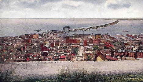 Duluth from Boulevard Drive, 1907