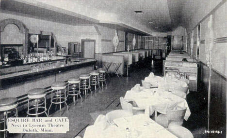 Esquire Bar and Cafe, Duluth Minnesota, 1950's?