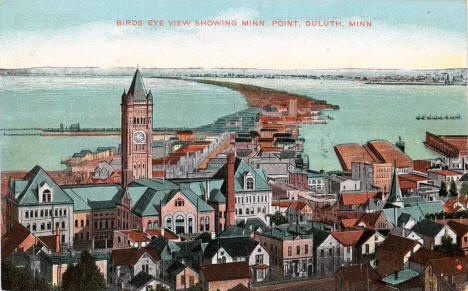 Birds eye view, Duluth Minnesota, 1900's