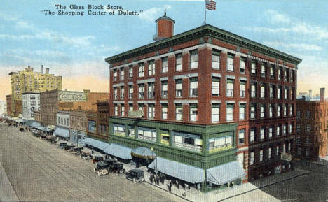 The Glass Block Department Store, Duluth Minnesota, 1920's