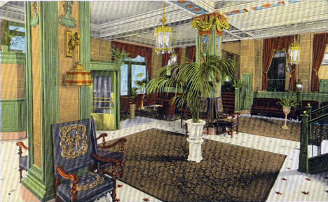 Lobby of the Hotel Holland, Duluth Minnesota, 1907