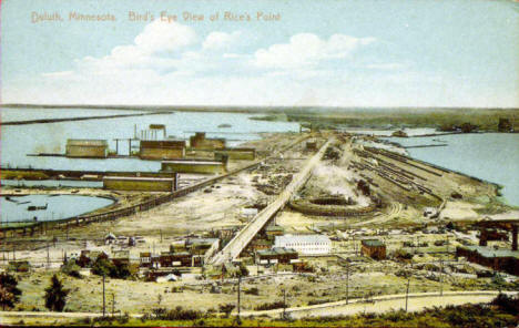 Birds eye view of Rice Point, Duluth Minnesota, 1910