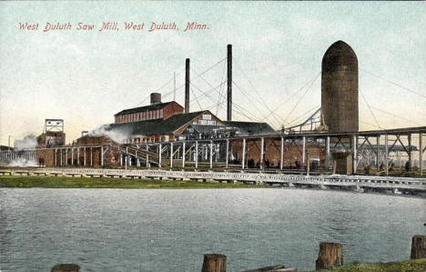 West Duluth Saw Mill, West Duluth Minnesota, 1910's