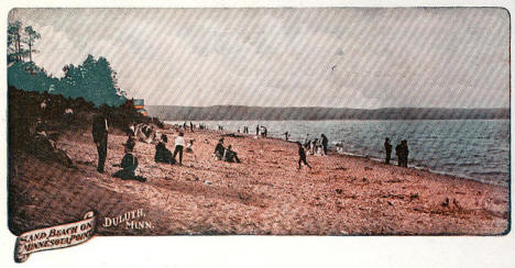 Sand Beach on Minnesota Point, Duluth Minnesota, 1900's