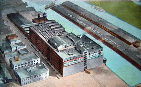 Aerial View, Marshall-Wells Hardware Company, Duluth Minnesota, 1910's