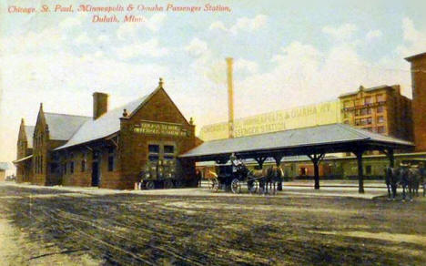 Chicago, St. Paul, Minneapolis & Omaha Railroad Station, Duluth Minnesota, 1911