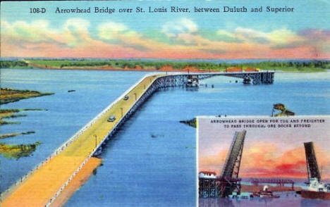 Arrowhead Bridge over St. Louis River, 1930's