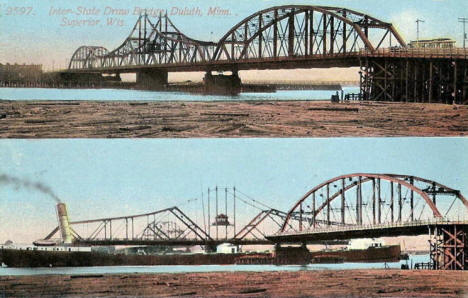 Interstate Draw Bridge, Duluth Minnesota, 1900's