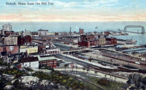 View from the Hill, Duluth Minnesota, 1916