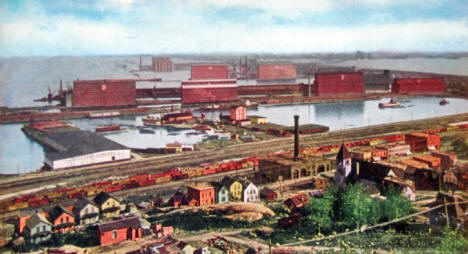 Grain elevators, Duluth Minnesota, 1907