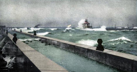 The Light House, Great Pier, Duluth Minnesota, 1903