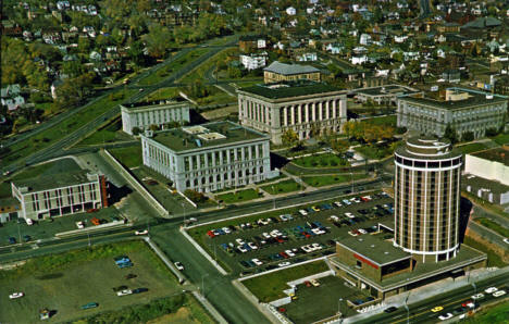 New Radisson Duluth and Duluth Civic Center, Duluth Minnesota, 1960's