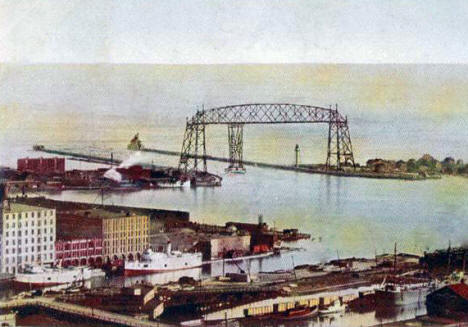 Duluth Harbor and Aerial Bridge, Duluth Minnesota, 1904