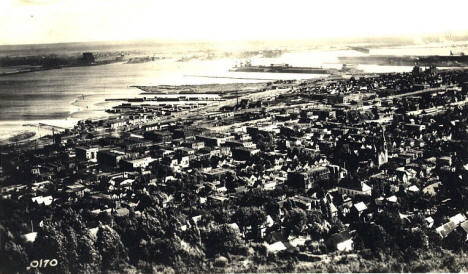 Birds eye view of the West End of Duluth Minnesota, 1920's?