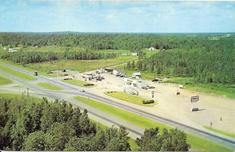 Nelson's Diner and Mileage gas station on the Miller Trunk Highway, 1950's