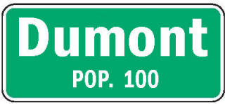 Dumont Minnesota population sign