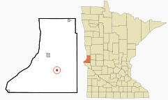 Location of Dumont, Minnesota