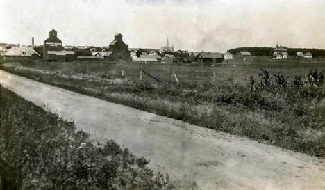 View of Dunnell Minnesota from the east, 1910's?