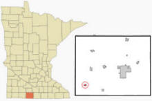 Location of Dunnell, Minnesota