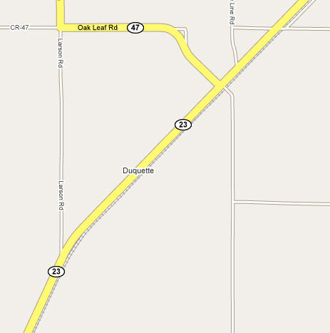 Street Map of Duquette Minnesota