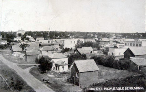 Birds eye view, Eagle Bend Minnesota, 1909