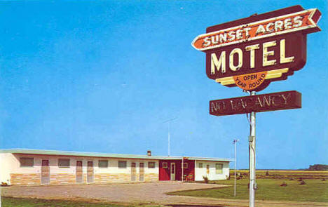 Sunset Acres Motel, East Grand Forks Minnesota, 1960's?