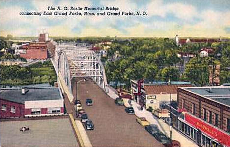 A.G. Sorlie Memorial Bridge, East Grand Forks Minnesota, 1957